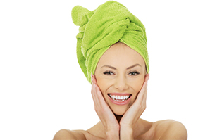 Towel-dry hair